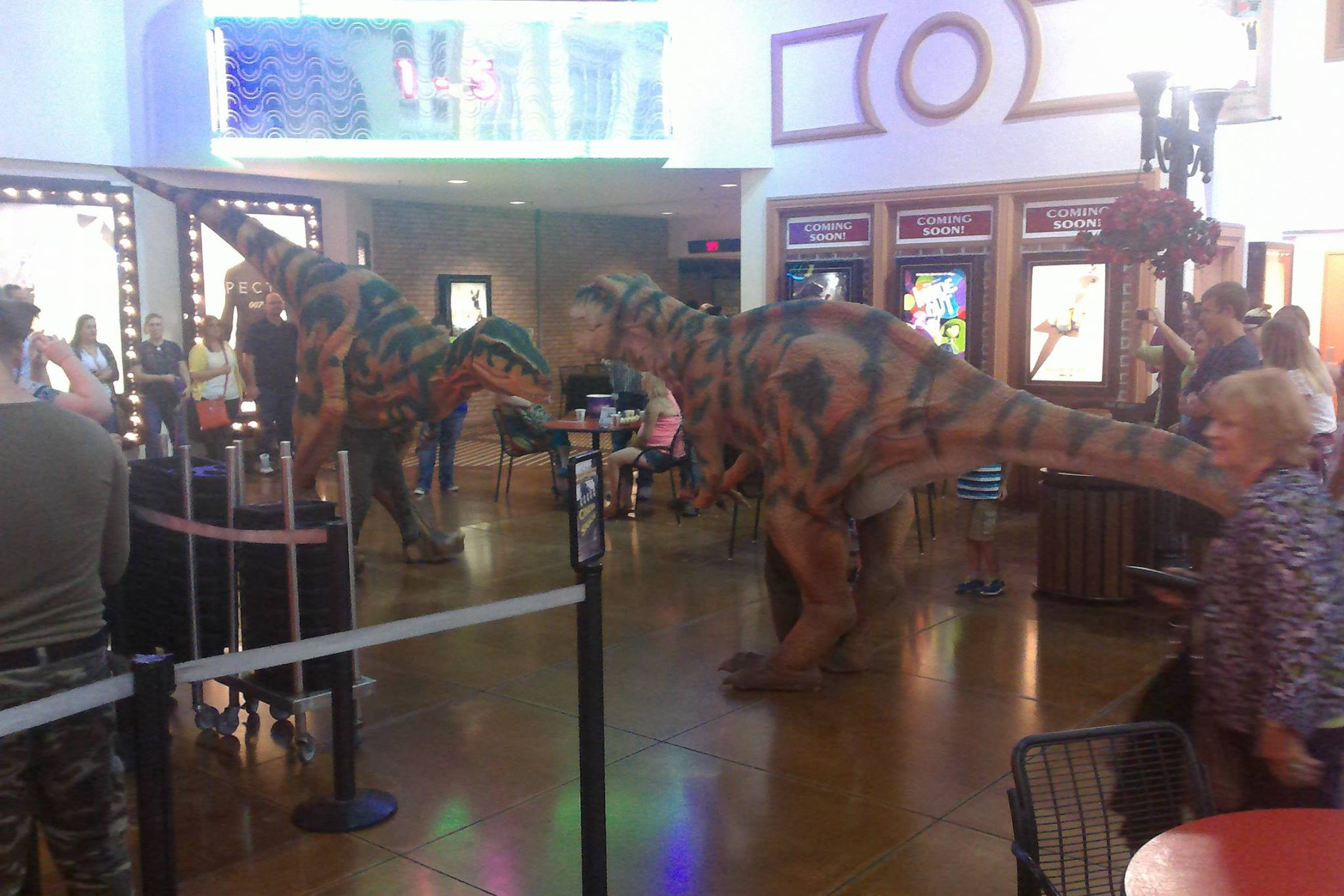 Dinosaurs movie theater