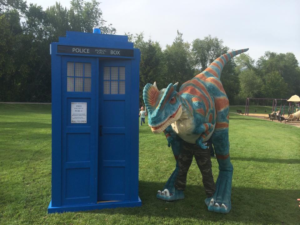 Realistic Dinosaur Performer