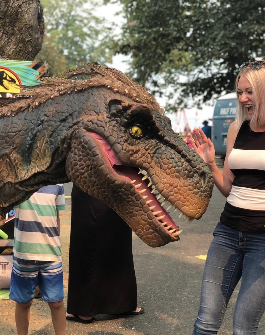 realistic dinosaur costume utah