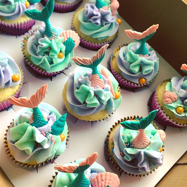 Mermaid mania! #mermaidcupcakes #imamermaid #cupcakes #happybirthday #fromscratch #dakotamade #willistonnd