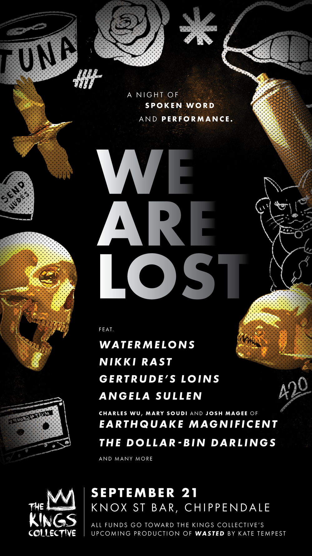 We Are Lost // A TKC Fundraiser - 21st September, Knox Street Bar Chippendale