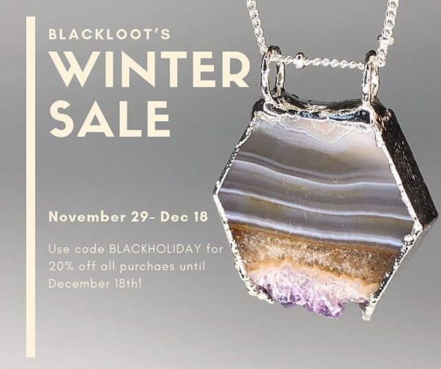 Visit Blackloot.net and use code BLACKHOLIDAY for 20% off! 50 new items just added, and more to come tomorrow!