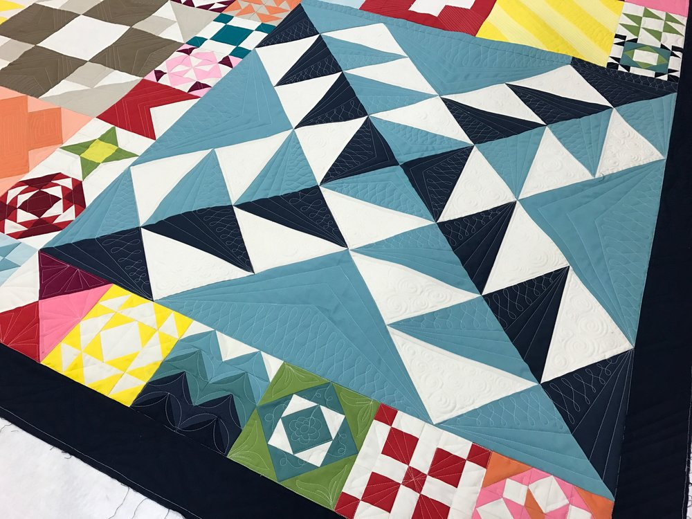 Moda Modern Building Block   | True custom quilting