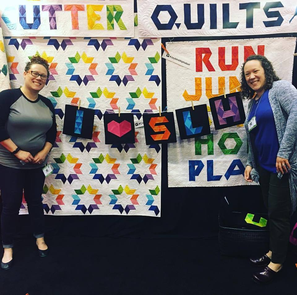 "We love Jaybird Quilts - these letters are from her newest book ""alphabet soup"""
