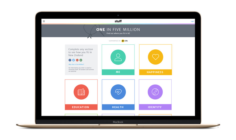1in5m - Desktop landing page