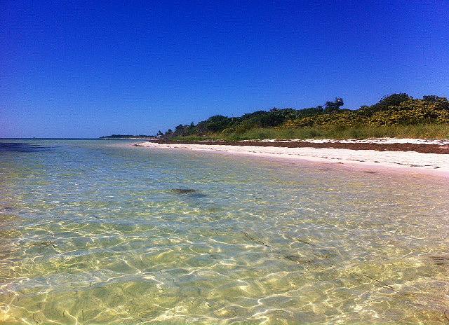 Sandspur Beach at Bahia Honda State Park.