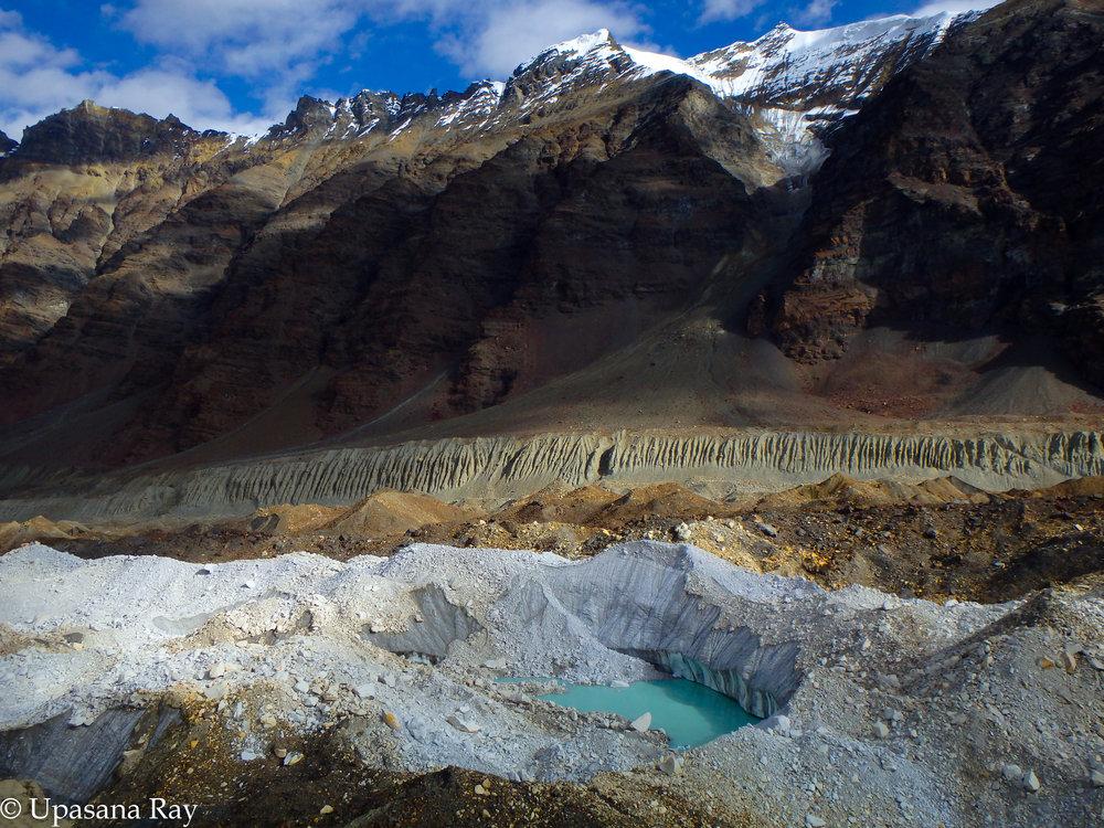 Traversing Shweta glacier