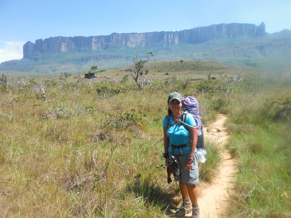 Taking it on the trail to Roraima, Venezuela.