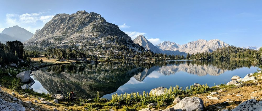 The beauty of Bullfrog Lake made it worth it to hike up Kearsarge pass twice to resupply in Independence.