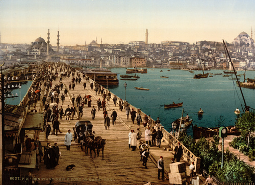 Galata Bridge, ca. 1900