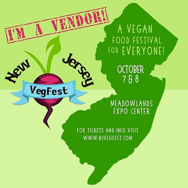 Hop over to my booth tomorrow at the @njvegfest ! I'll be serving some special treats for ya!  Gluten free Broccoli cornbread  Traditional cornbread  Pumpkin pound cake and cookie pies! See you this weekend!  #njvegfest #veganfestival #newjersey #medowlands #vegfest #veganfood #vegan