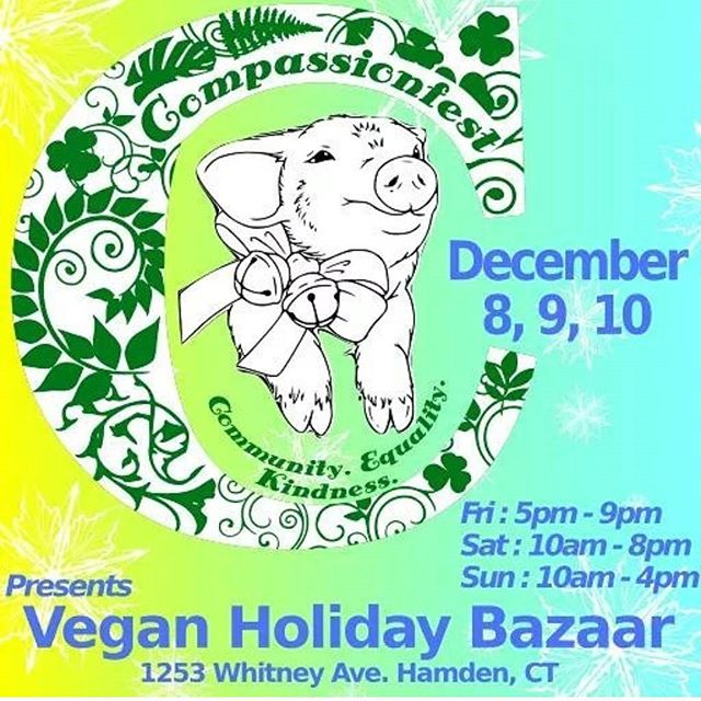 Hey y'all catch me at @compassionfest this Saturday in CT! I'm so excited to feed you. Here's what you can find from bunny treats : Cinnamon rolls  Butternut squash mac n cz (gf) Cornbread stuffing bites (gf) Spiced Pumpkin cake (gf) Cupcakes  Cookie pies #glutenfree #organic #vegan #Connecticut  #veganmarket #holidaymarket #hamden