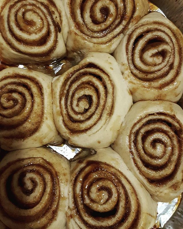 Get your cinnnabunnnies! Don't let the snow keep from these. Get these at @compassionfest now until 8 or tomorrow @vgnmkt from 12 -5 and tomorrow @queensmuseum from 11 - 430