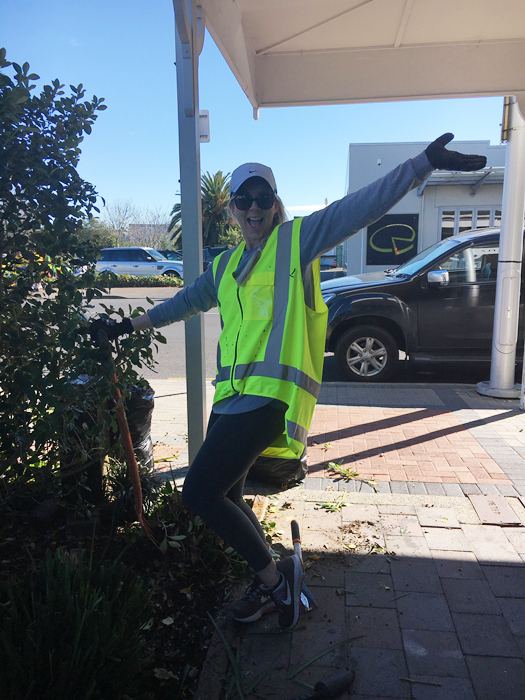 Kimberley at the Papakura Town Clean Up