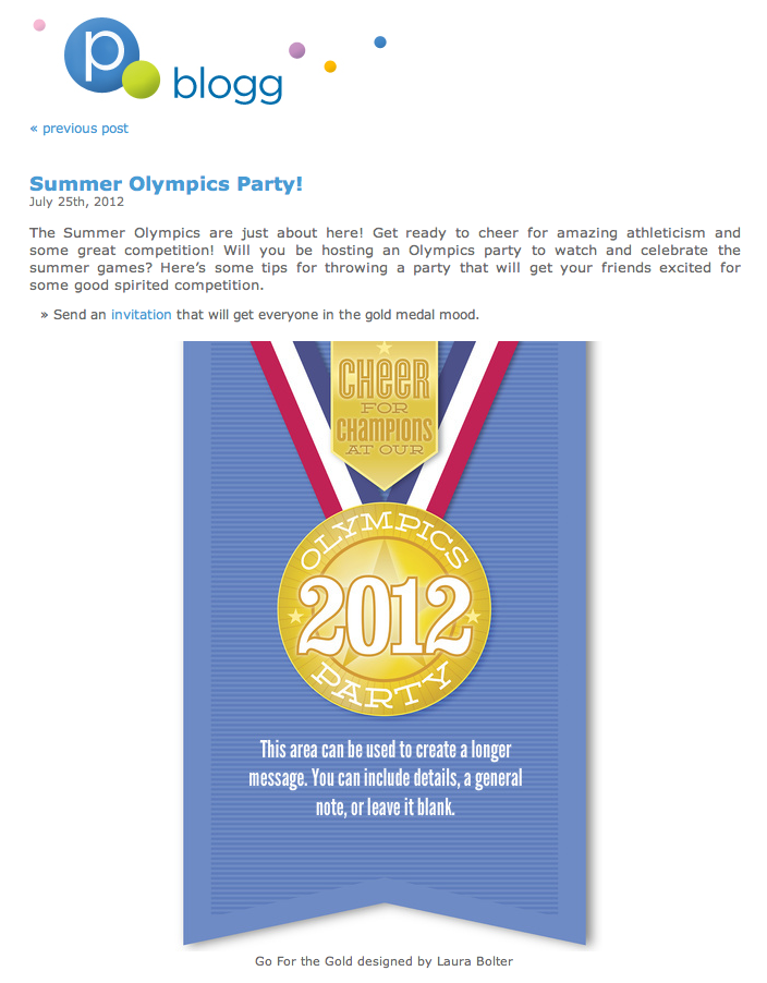 Pingg Blog Gold Medal invitation