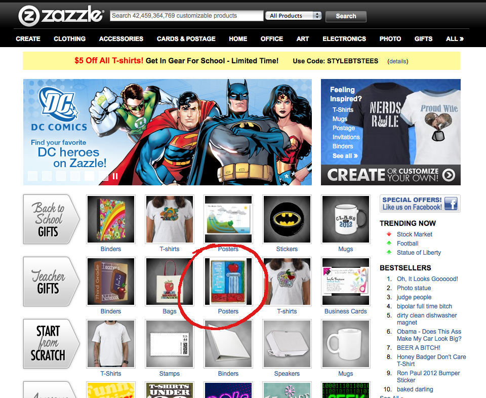 Laura Bolter Design on Zazzle Front Page