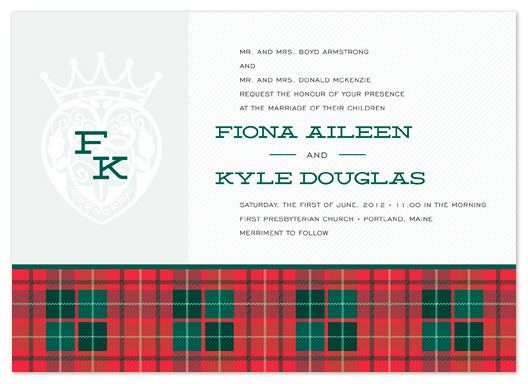 Luckenbooth Tartan Wedding Invitation
