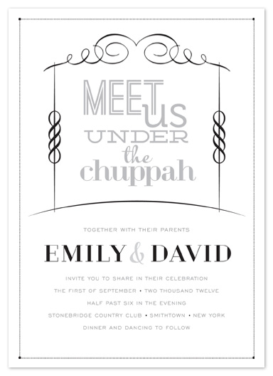 Meet Us Under the Chuppah Wedding Invitation