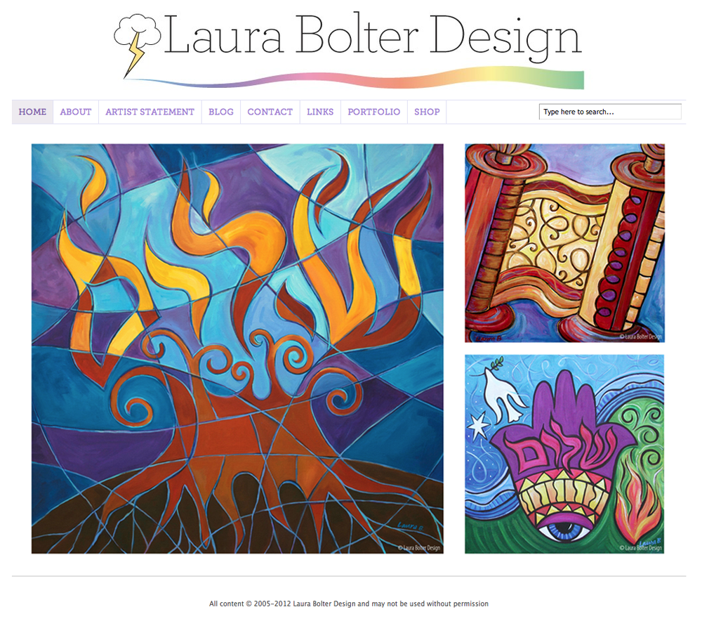 Laura Bolter Design home page