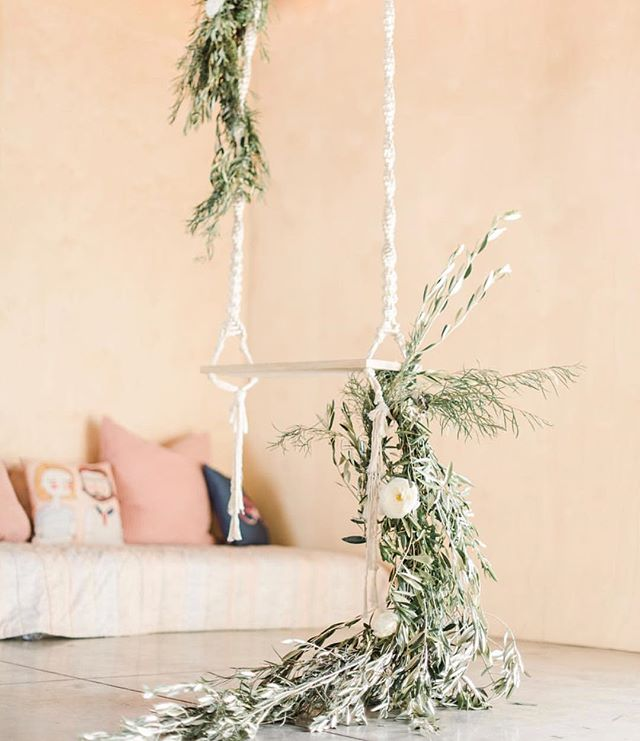 I'm kind of in love with this floral & greenery installation by Crimson Petal Design for @victoriaannevents' wedding planning workshop & featuring gorgeous gowns by @enblanc_la. #studiocity #lavenue #indoorswing Photo by @sanazphotography