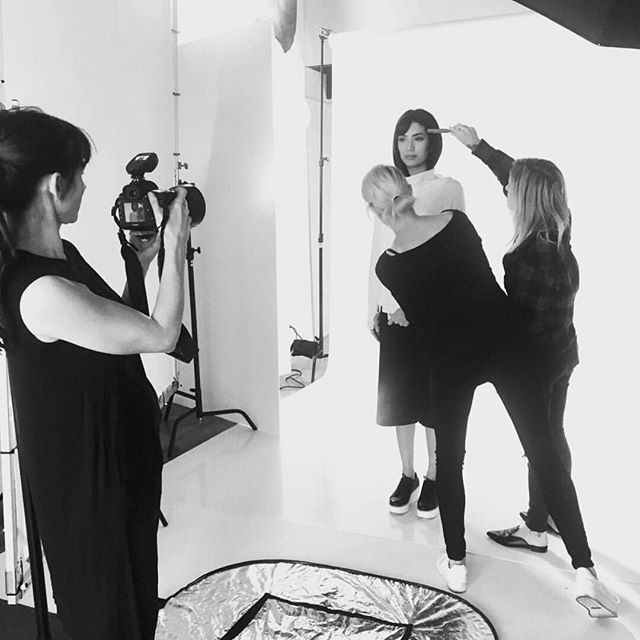 I had such fun photographing the new spring line for @nfpstudio this week. Here's a little peek behind the scenes of our all women-powered production. #profotousa #studiocity #spring2019fashion