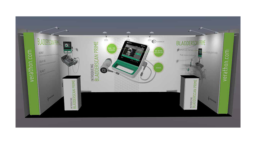 3D RENDER OF TRADESHOW BOOTH / LONDON DEBUT