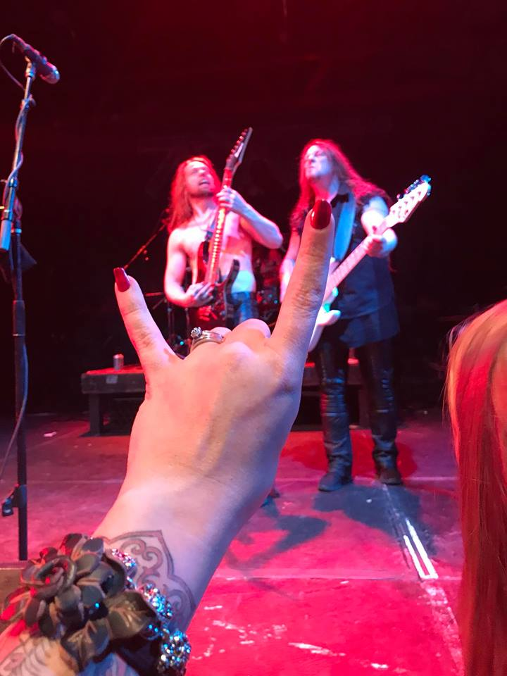 I comforted myself by buying nail polish instead of food. The bright red looked great the next night when I held up the horns at a metal show. \m/