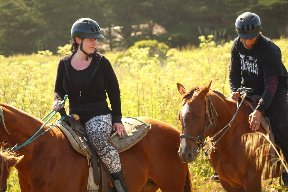 Our most recent adventure- horse back riding.