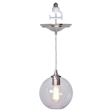 Pendant With Clear Round Glass Shade