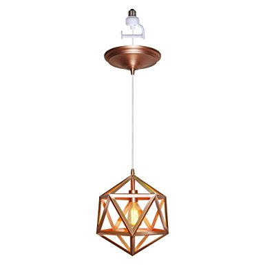 Pendant With Multifaceted Copper Jewel Shape