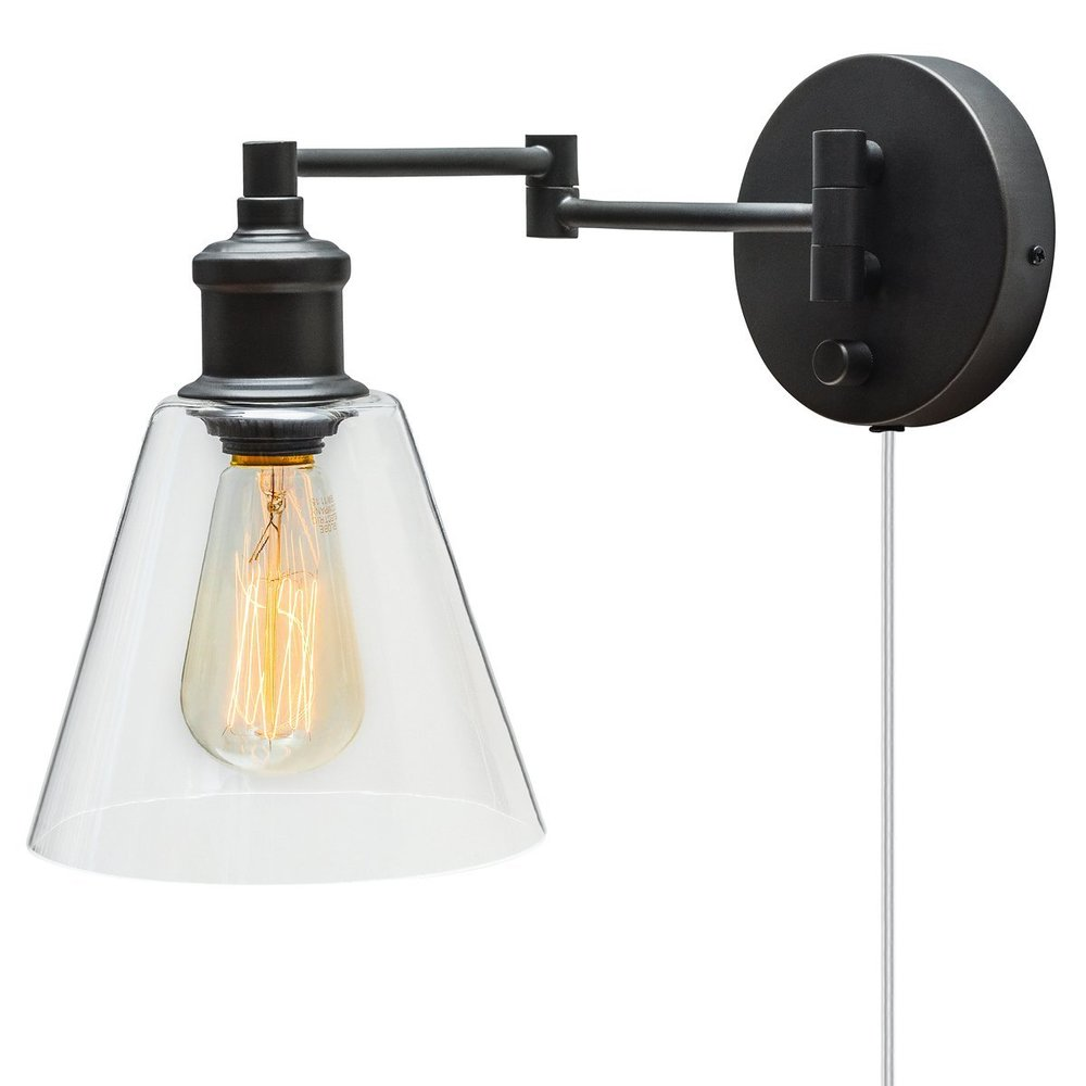 Industrial Dark Bronze Plug In