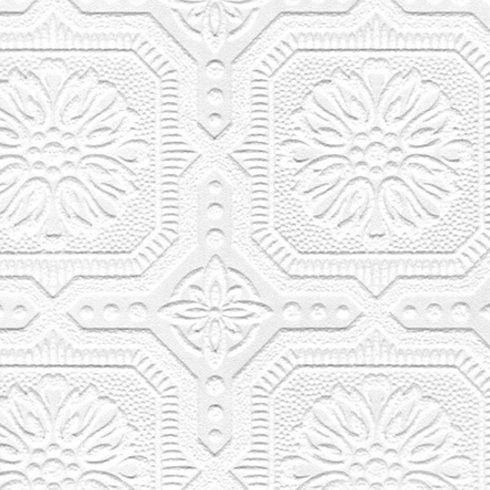 Damask 3D Embossed Wallpaper