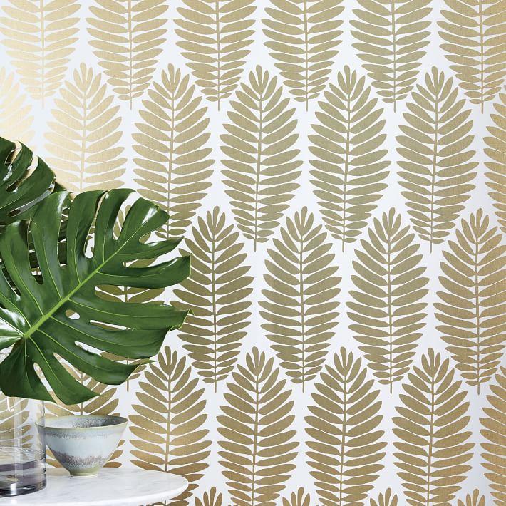 Gold Fern Wallpaper