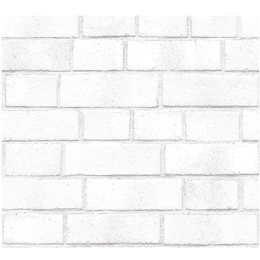 White Textured Brick Peel & Stick Wallpaper