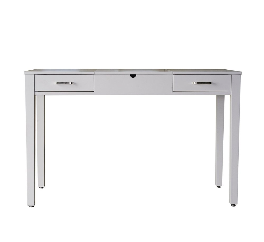 "Hives and Honey Hives & Honey ""Ainsley"" Vanity Desk, Crisp White"