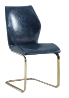 Milan Nirvana Ergonomic Design Cantilever Side Chair (Set of 2), Blue