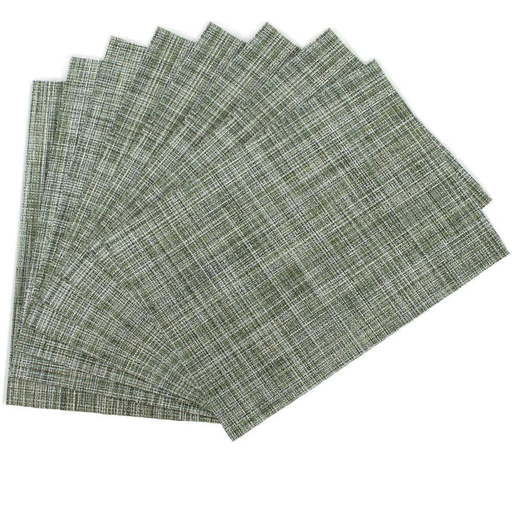 Benson Mills Tweed Woven Vinyl Placemats, Grass