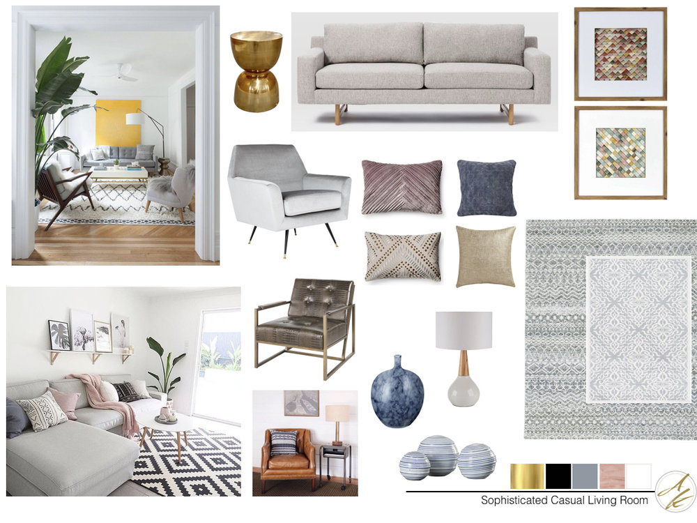 Albie Knows Mood Board Mondays: Sophisticated Yet Casual Living Room