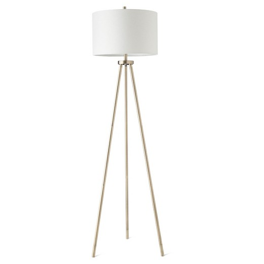 Antique Brass Tripod Floor Lamp