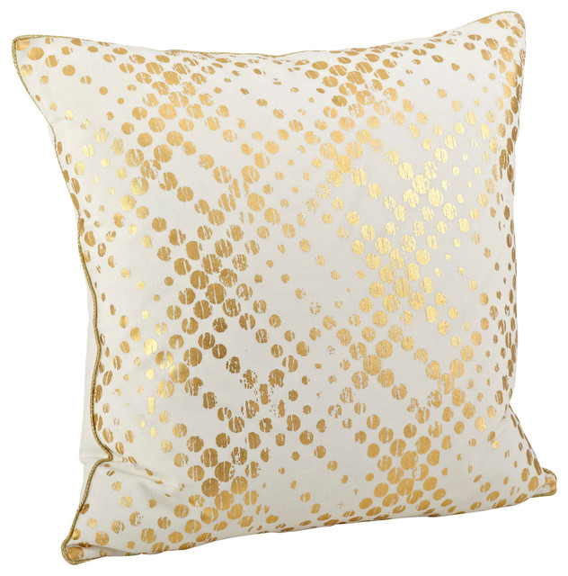 "20"" Lustrous Metallic Gold Foil Pillow"