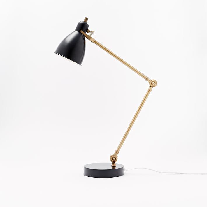 Black/Brass Industrial Task + USB
