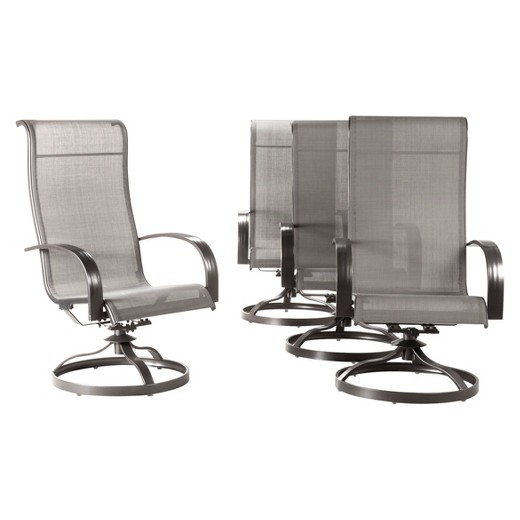 Camden 4-pc. Sling Swivel Rocker Patio Dining Chairs
