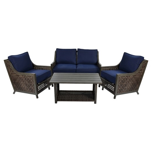 Fabron 4-pc. Wicker Patio Conversation Set