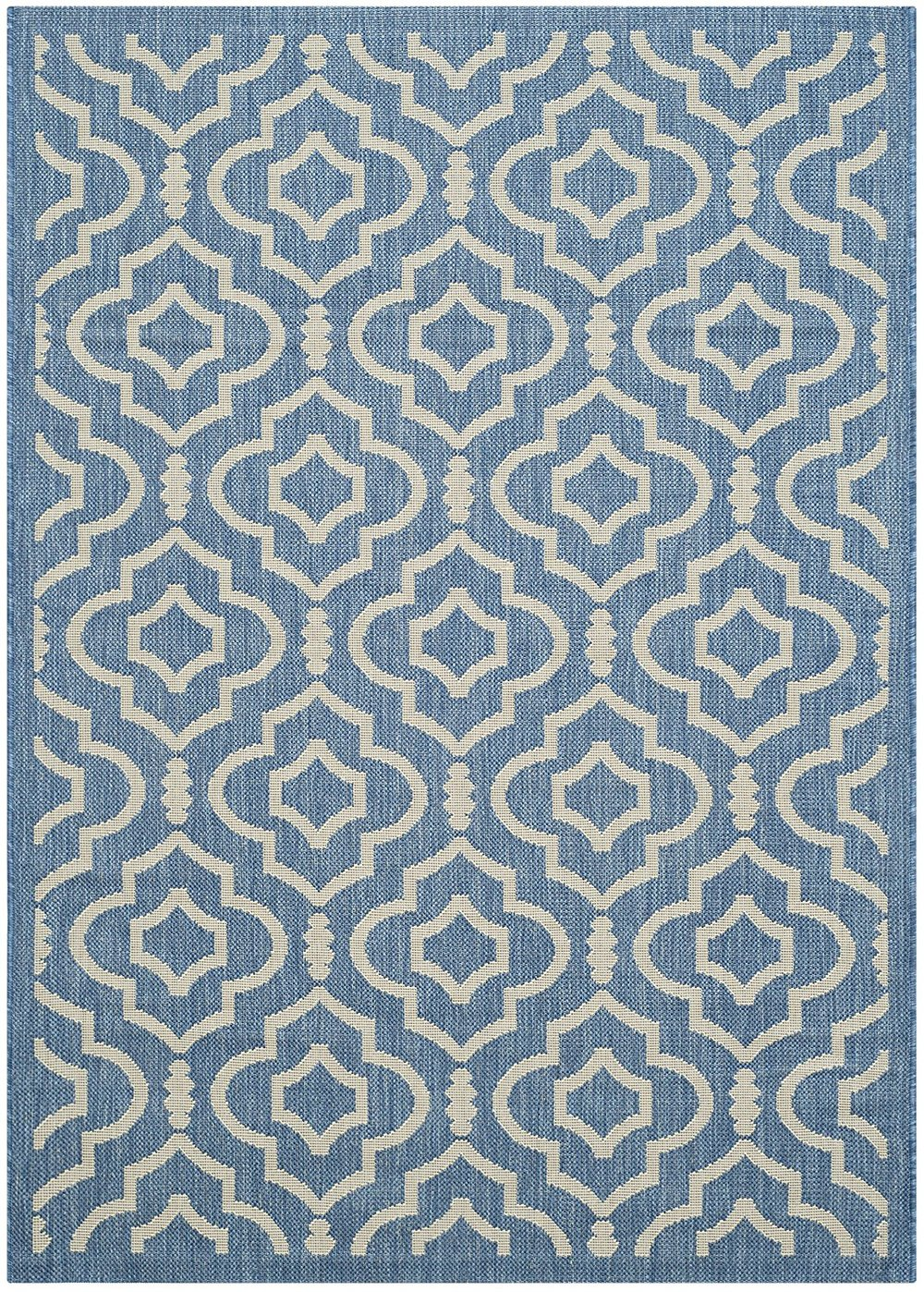 Safavieh Blue and Beige Indoor/ Outdoor Area Rug