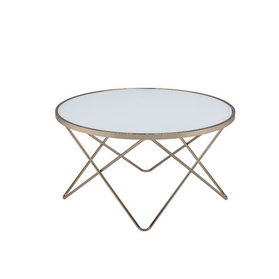 Valora Coffee Table, Frosted Glass & Champagne