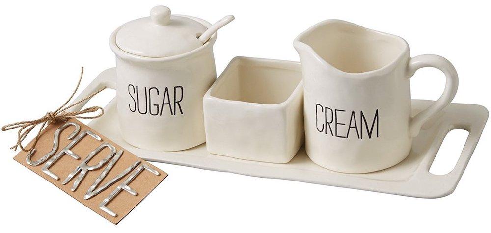 Mud Pie Bistro Cream & Sugar Set