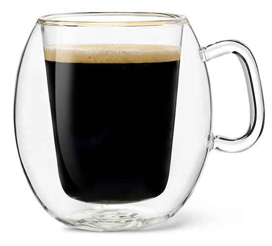 Luigi Bormioli Thermic Suprimo Coffee Mug (10-1/4 oz) Set of 2