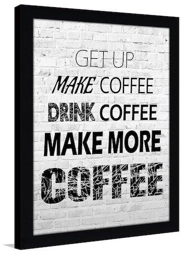 """Coffee"" Framed Textual Art"