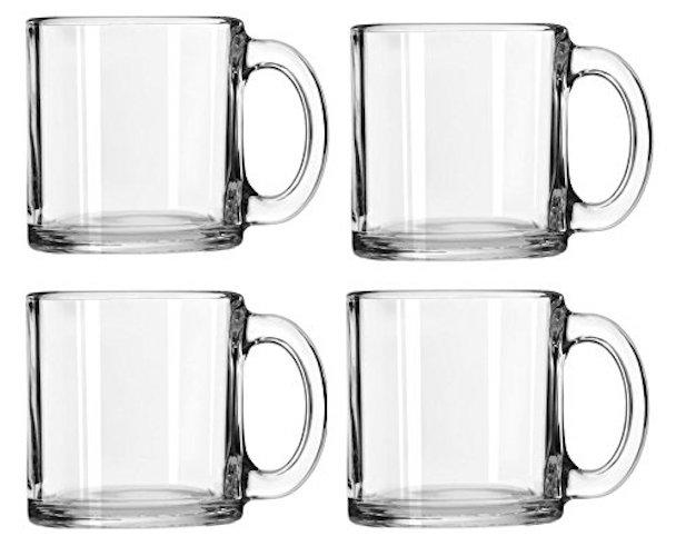 Libbey Crystal Coffee Mug, Set of 4 (13 oz)