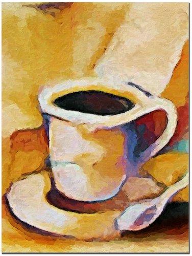 'Coffee' by Adam Kadmos Painting Print on Canvas